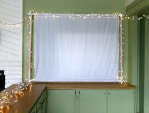 bed sheet projector screen